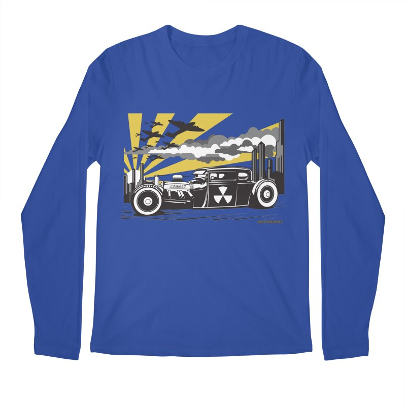 ATOMIC COUPE (yellow) Men's Regular Longsleeve T-Shirt by Max Grundy Design's Artist Shop