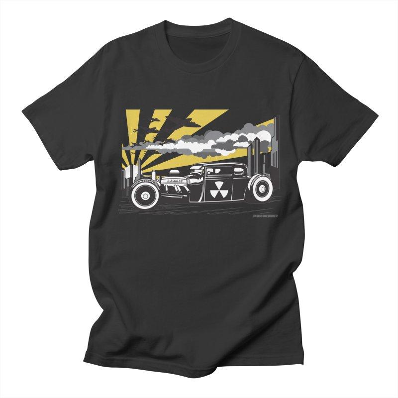 ATOMIC COUPE (yellow) Men's Regular T-Shirt by Max Grundy Design's Artist Shop