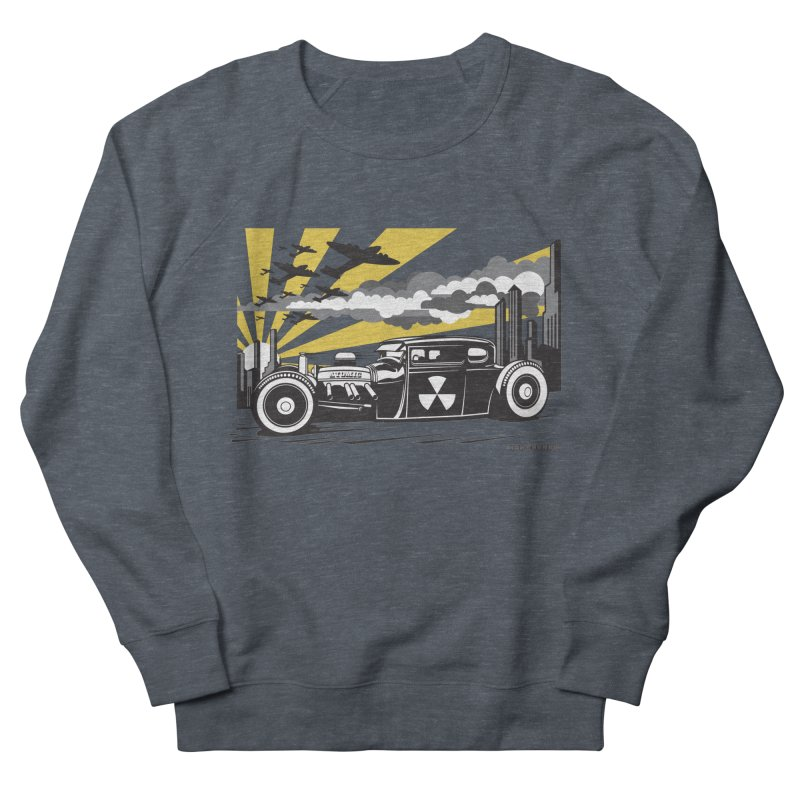 ATOMIC COUPE (yellow) Women's French Terry Sweatshirt by Max Grundy Design's Artist Shop