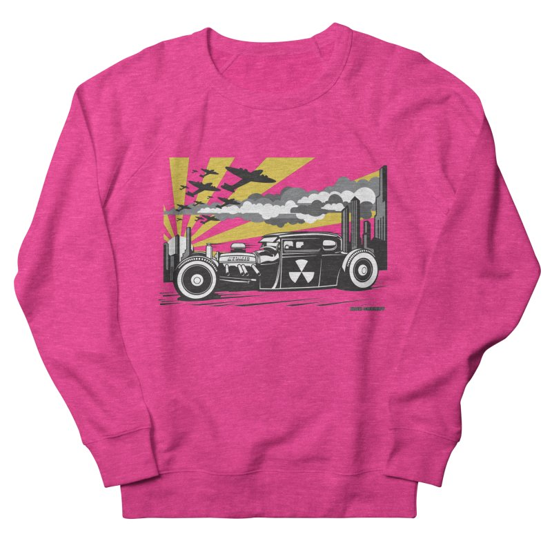 ATOMIC COUPE (yellow) Men's French Terry Sweatshirt by Max Grundy Design's Artist Shop