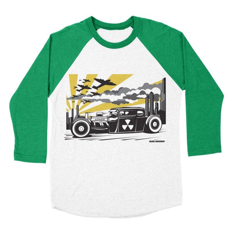 ATOMIC COUPE (yellow) Men's Baseball Triblend Longsleeve T-Shirt by Max Grundy Design's Artist Shop