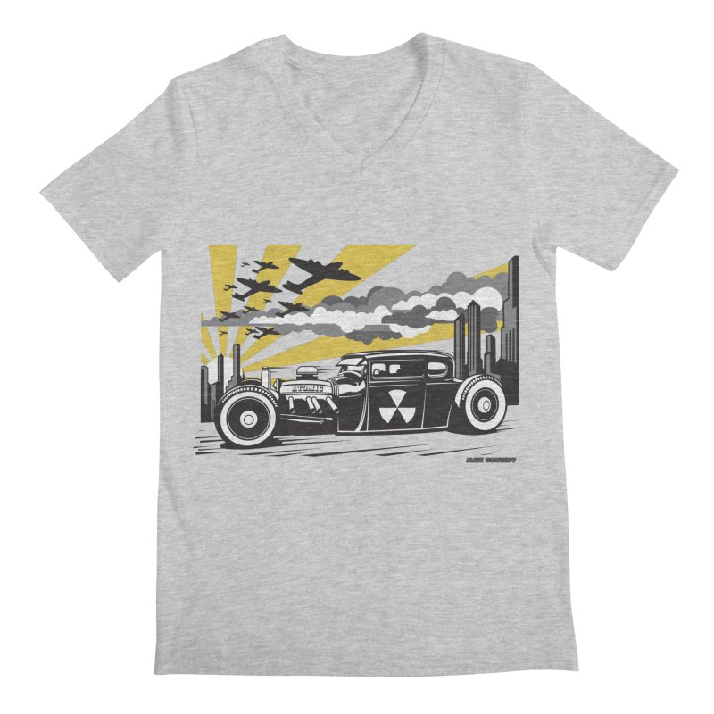 ATOMIC COUPE (yellow) Men's Regular V-Neck by Max Grundy Design's Artist Shop