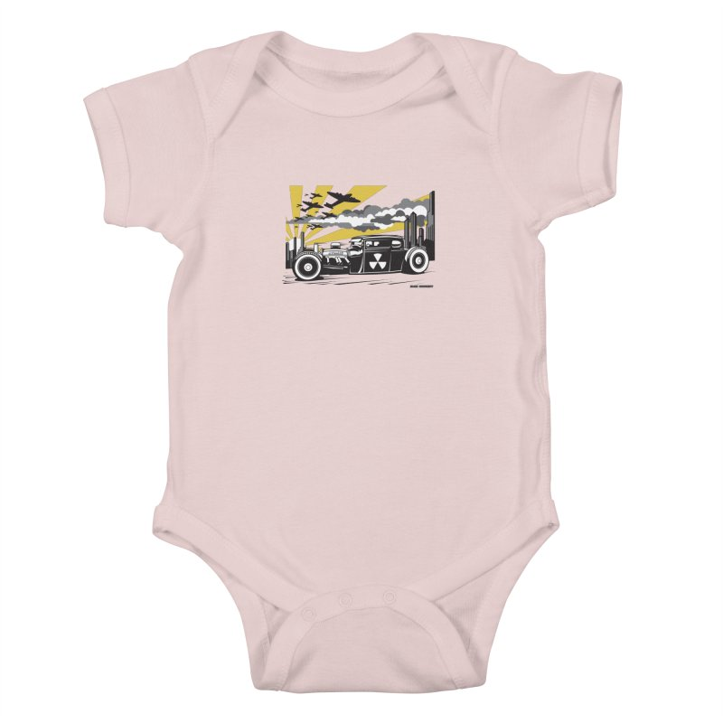 ATOMIC COUPE (yellow) Kids Baby Bodysuit by Max Grundy Design's Artist Shop