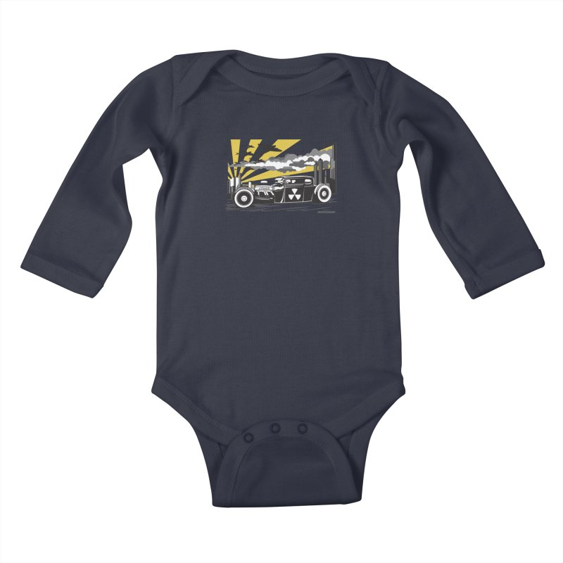 ATOMIC COUPE (yellow) Kids Baby Longsleeve Bodysuit by Max Grundy Design's Artist Shop