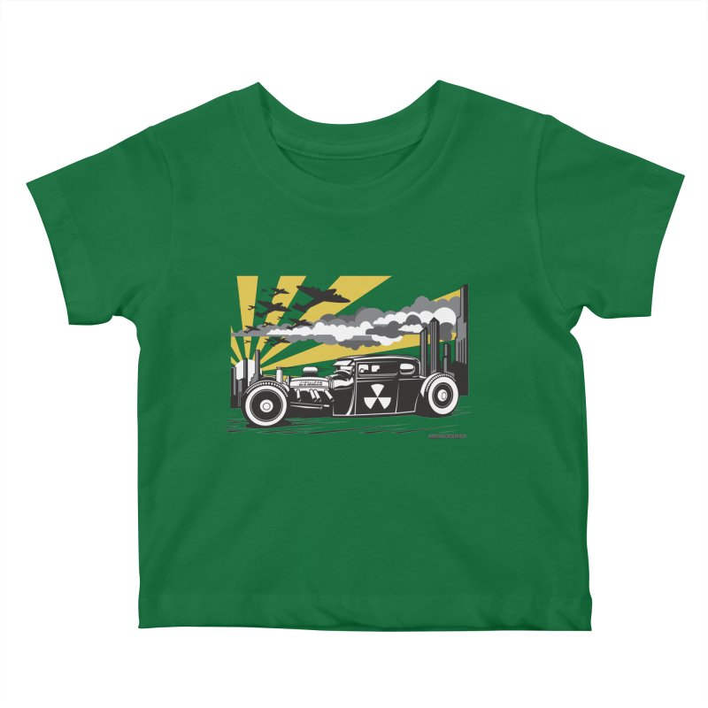 ATOMIC COUPE (yellow) Kids Baby T-Shirt by Max Grundy Design's Artist Shop