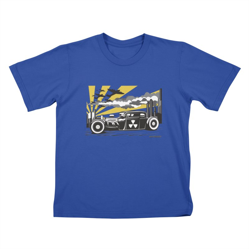 ATOMIC COUPE (yellow) Kids T-Shirt by Max Grundy Design's Artist Shop