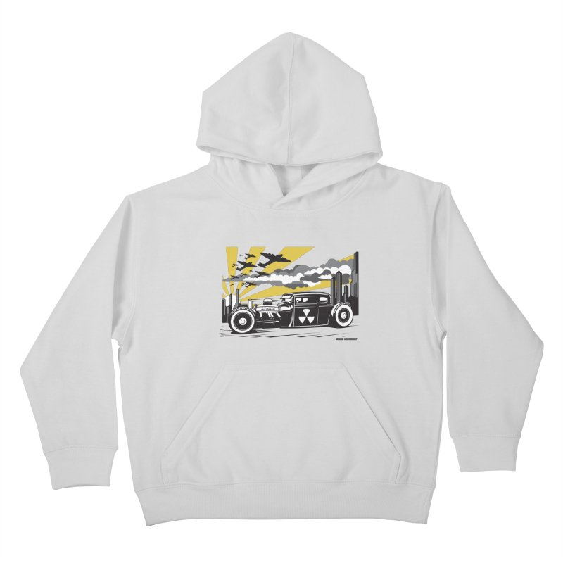 ATOMIC COUPE (yellow) Kids Pullover Hoody by Max Grundy Design's Artist Shop