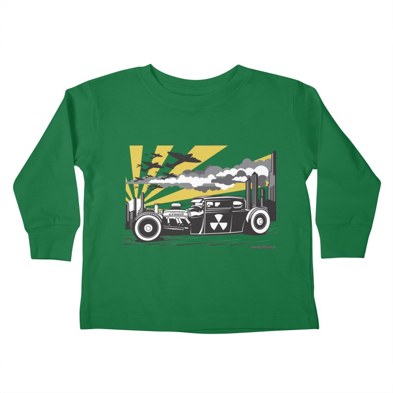 ATOMIC COUPE (yellow) Kids Toddler Longsleeve T-Shirt by Max Grundy Design's Artist Shop