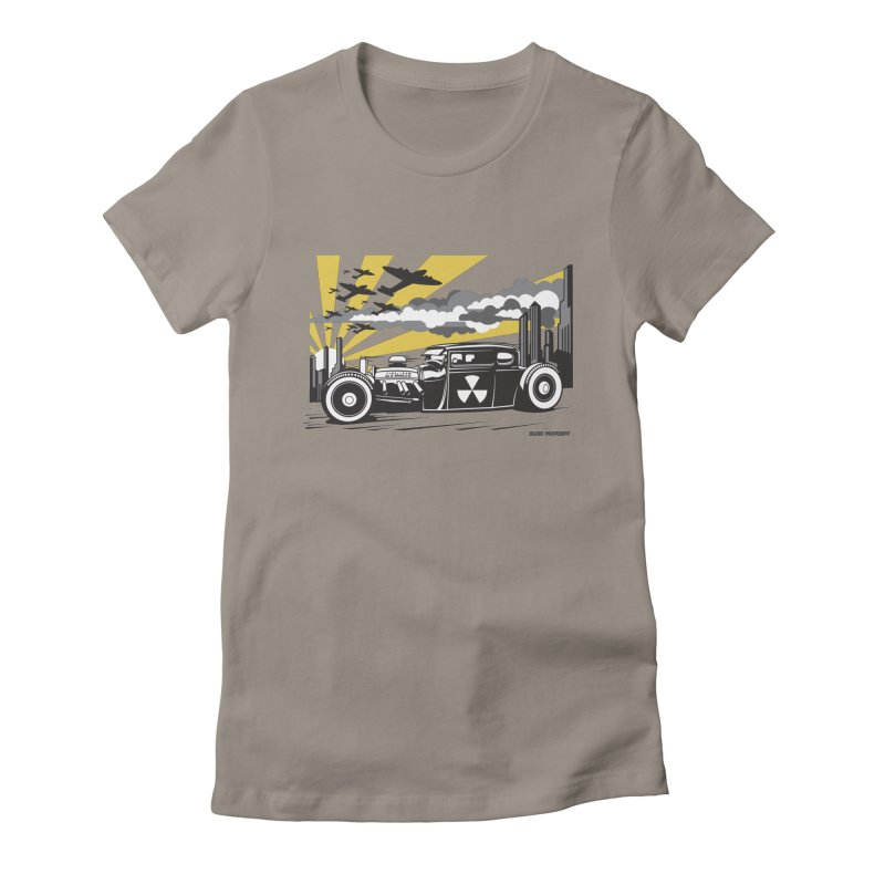 ATOMIC COUPE (yellow) Women's Fitted T-Shirt by Max Grundy Design's Artist Shop