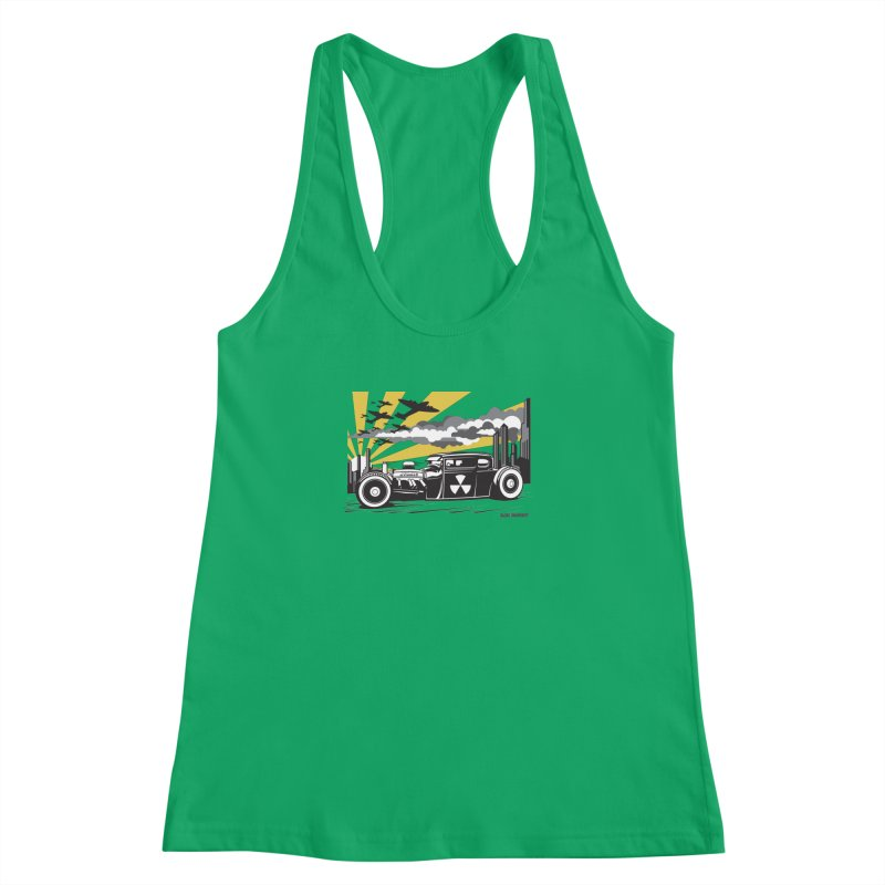 ATOMIC COUPE (yellow) Women's Racerback Tank by Max Grundy Design's Artist Shop