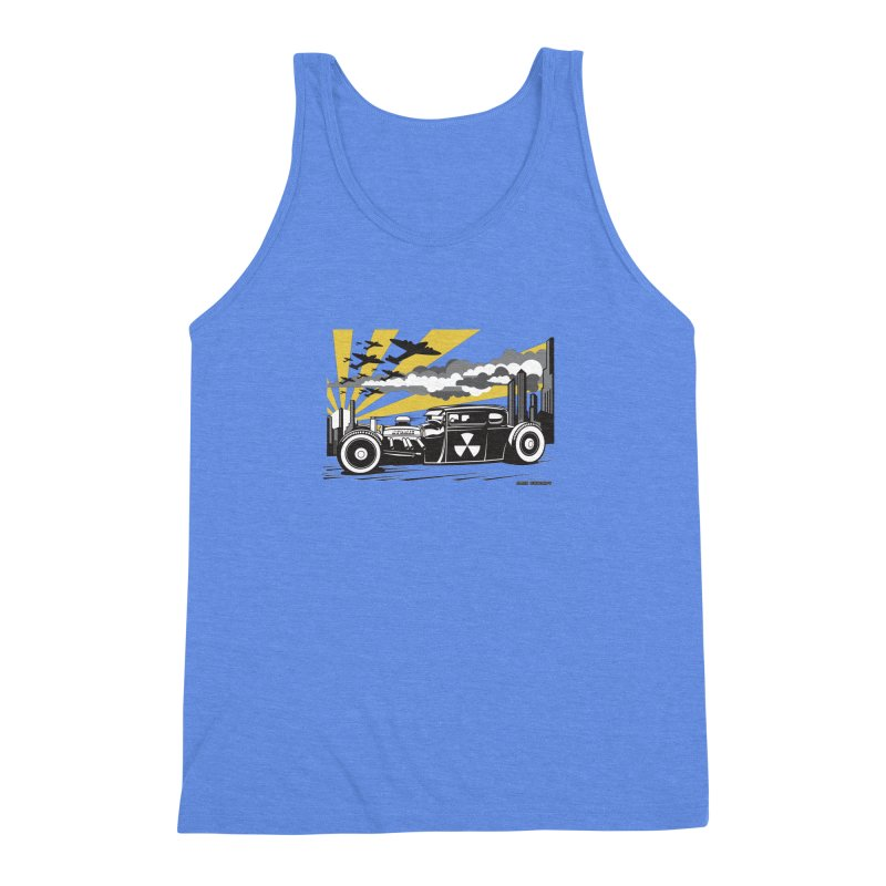 ATOMIC COUPE (yellow) Men's Triblend Tank by Max Grundy Design's Artist Shop