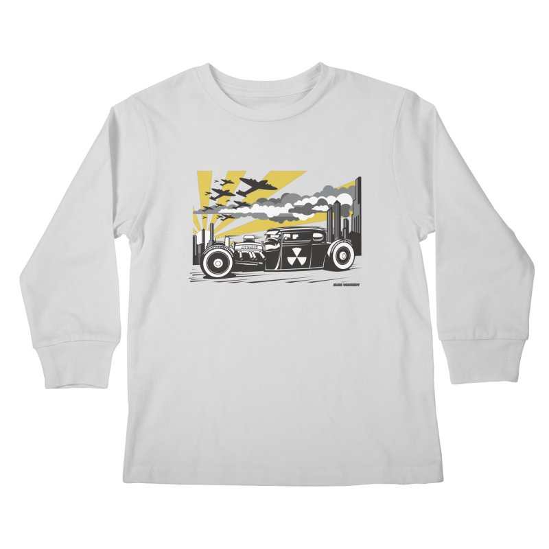 ATOMIC COUPE (yellow) Kids Longsleeve T-Shirt by Max Grundy Design's Artist Shop