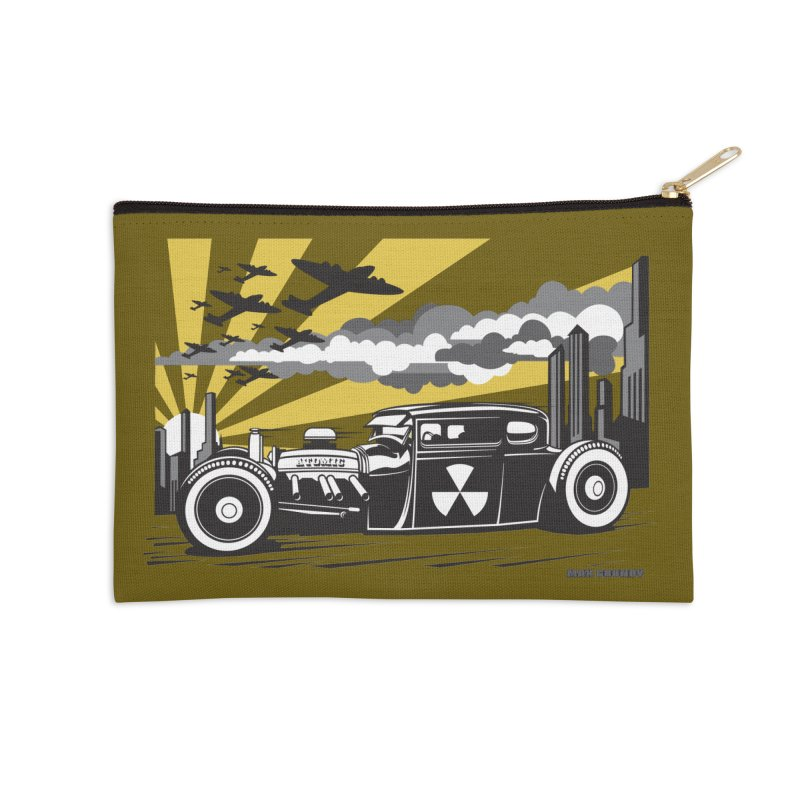 ATOMIC COUPE (yellow) Accessories Zip Pouch by Max Grundy Design's Artist Shop
