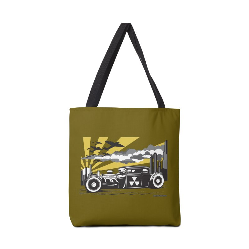 ATOMIC COUPE (yellow) Accessories Tote Bag Bag by Max Grundy Design's Artist Shop