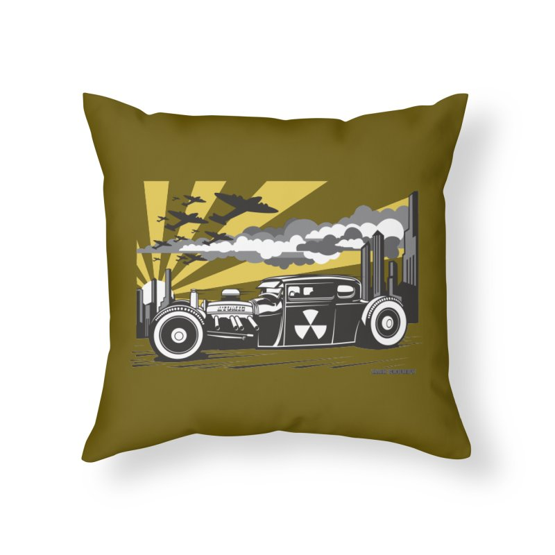 ATOMIC COUPE (yellow) Home Throw Pillow by Max Grundy Design's Artist Shop