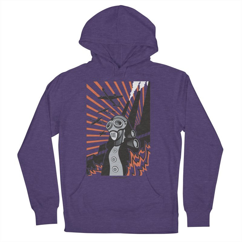 MECHANOPHOBIA Men's French Terry Pullover Hoody by Max Grundy Design's Artist Shop