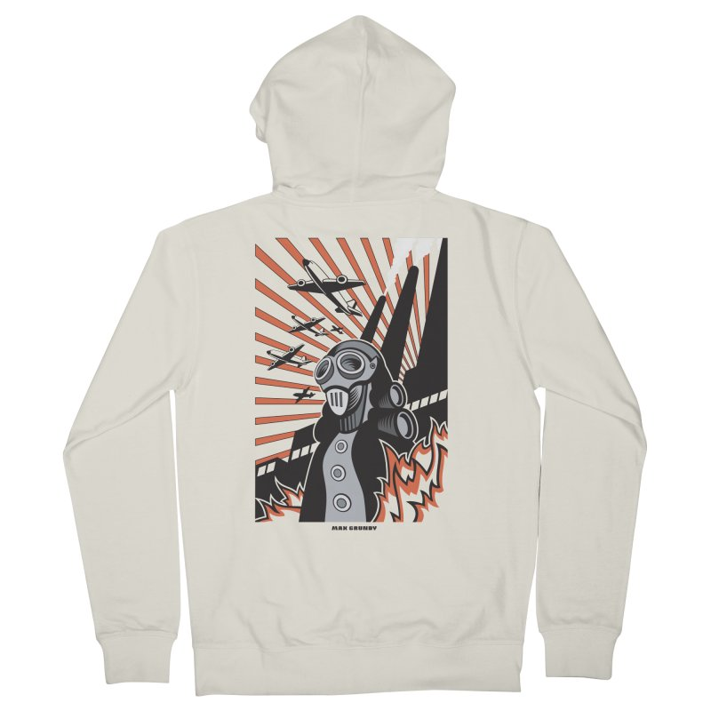 MECHANOPHOBIA Women's French Terry Zip-Up Hoody by Max Grundy Design's Artist Shop