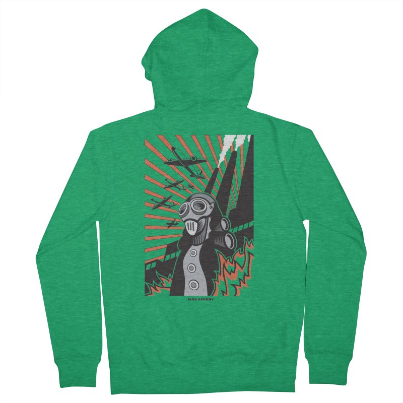 MECHANOPHOBIA Men's French Terry Zip-Up Hoody by Max Grundy Design's Artist Shop