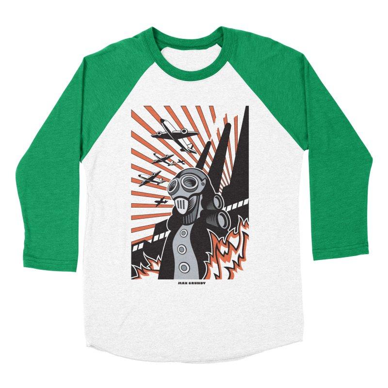 MECHANOPHOBIA Women's Baseball Triblend Longsleeve T-Shirt by Max Grundy Design's Artist Shop