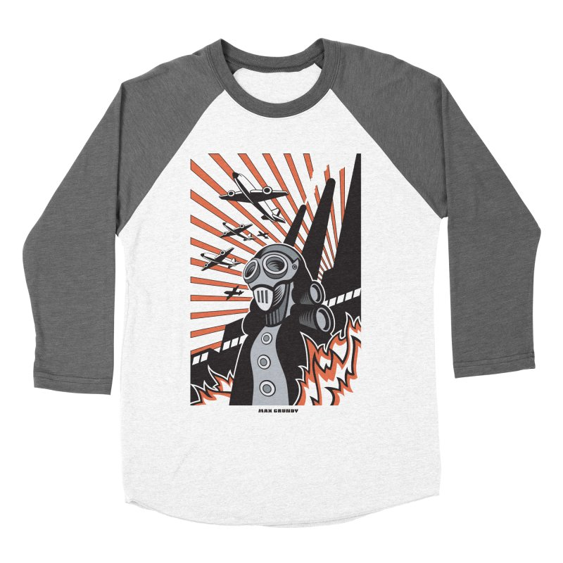 MECHANOPHOBIA Men's Baseball Triblend Longsleeve T-Shirt by Max Grundy Design's Artist Shop