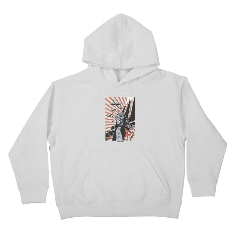 MECHANOPHOBIA Kids Pullover Hoody by Max Grundy Design's Artist Shop