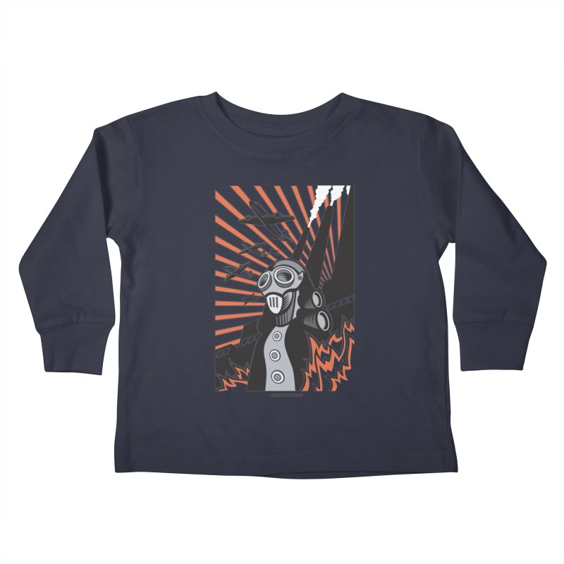 MECHANOPHOBIA Kids Toddler Longsleeve T-Shirt by Max Grundy Design's Artist Shop