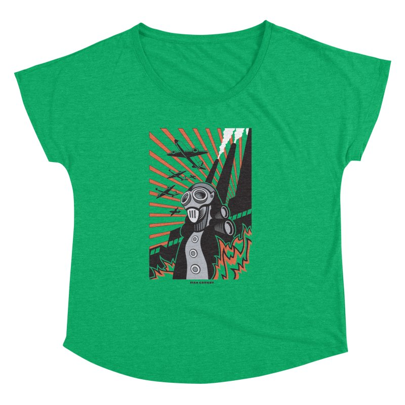 MECHANOPHOBIA Women's Dolman Scoop Neck by Max Grundy Design's Artist Shop