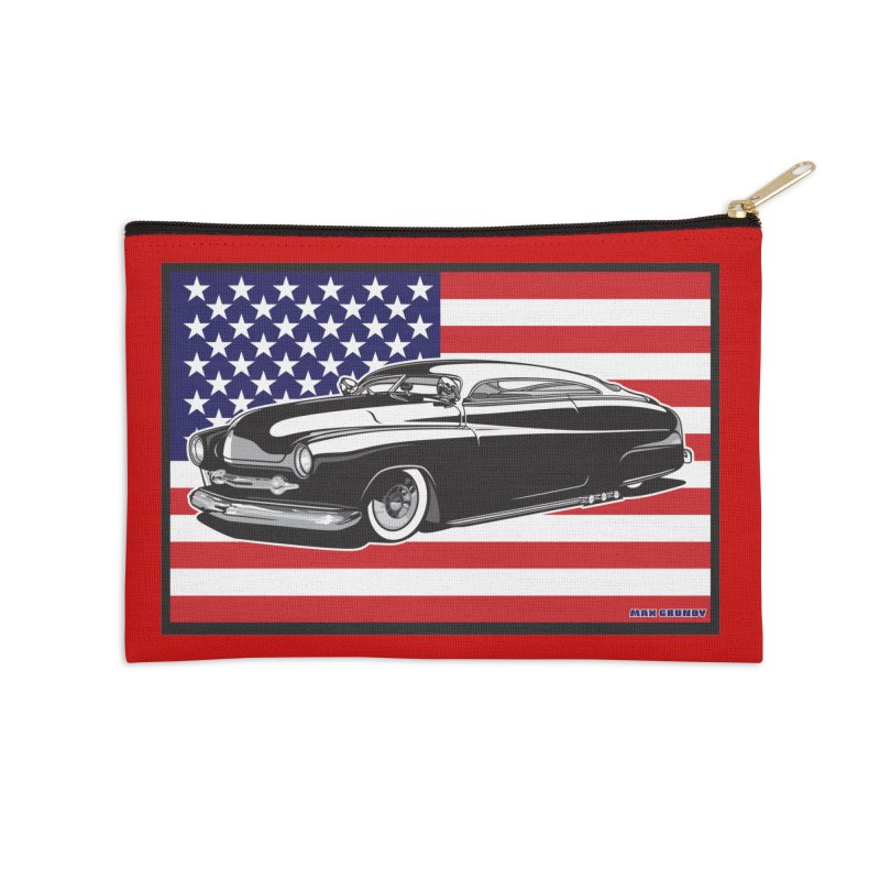 AMERICAN ORIGINAL Accessories Zip Pouch by Max Grundy Design's Artist Shop