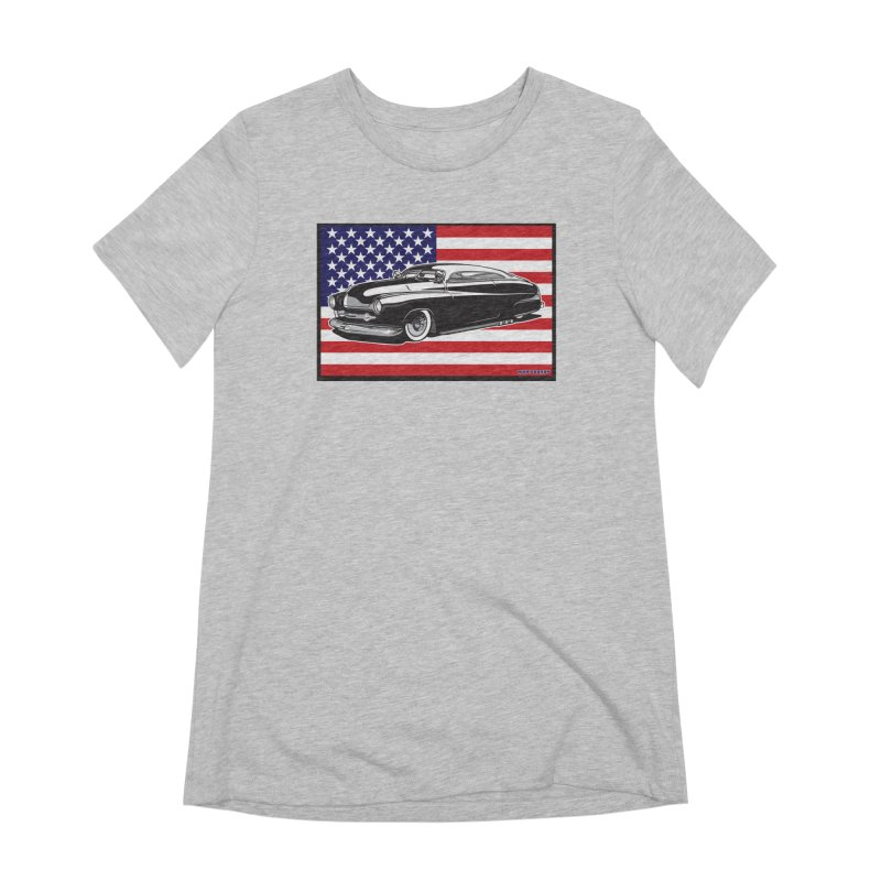AMERICAN ORIGINAL Women's Extra Soft T-Shirt by Max Grundy Design's Artist Shop