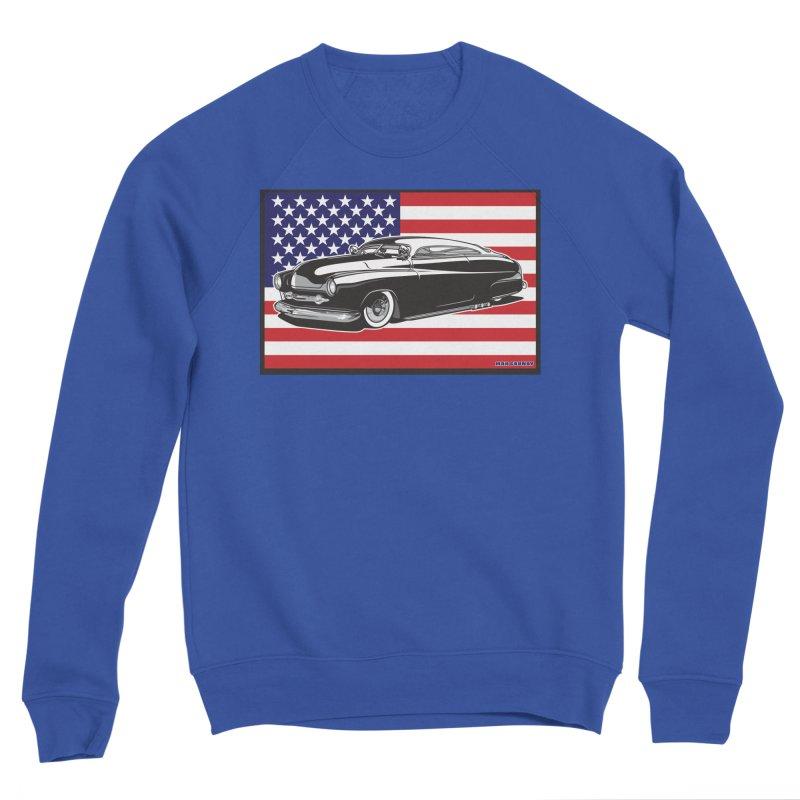 AMERICAN ORIGINAL Men's Sponge Fleece Sweatshirt by Max Grundy Design's Artist Shop