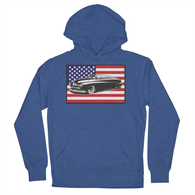 AMERICAN ORIGINAL Women's French Terry Pullover Hoody by Max Grundy Design's Artist Shop