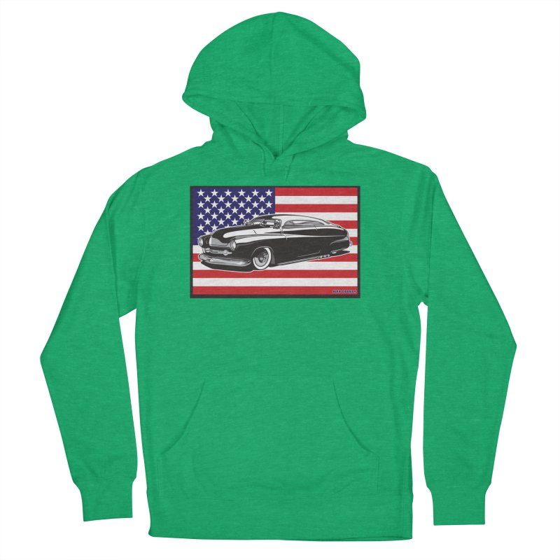 AMERICAN ORIGINAL Men's French Terry Pullover Hoody by Max Grundy Design's Artist Shop