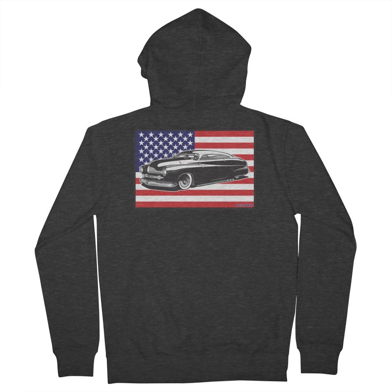 AMERICAN ORIGINAL Women's French Terry Zip-Up Hoody by Max Grundy Design's Artist Shop