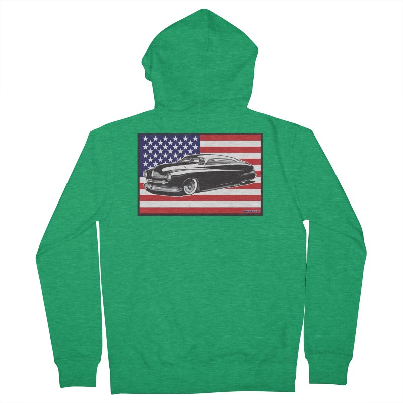 AMERICAN ORIGINAL Men's French Terry Zip-Up Hoody by Max Grundy Design's Artist Shop