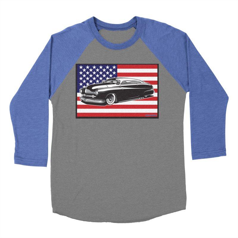 AMERICAN ORIGINAL Women's Baseball Triblend Longsleeve T-Shirt by Max Grundy Design's Artist Shop