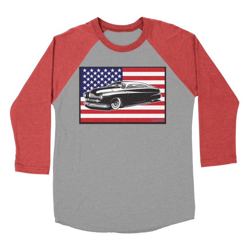 AMERICAN ORIGINAL Men's Baseball Triblend Longsleeve T-Shirt by Max Grundy Design's Artist Shop
