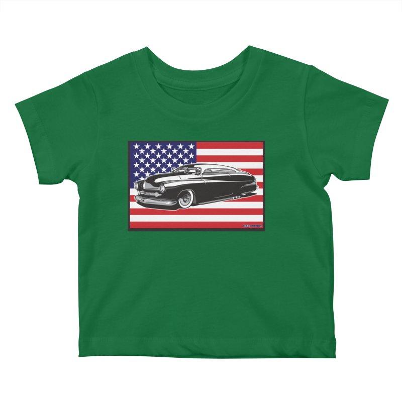 AMERICAN ORIGINAL Kids Baby T-Shirt by Max Grundy Design's Artist Shop
