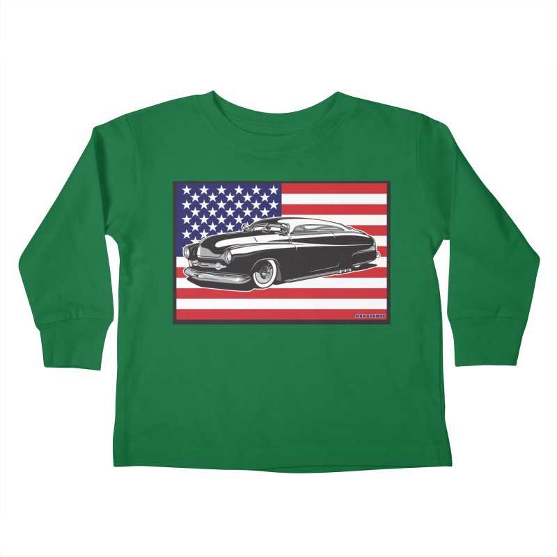 AMERICAN ORIGINAL Kids Toddler Longsleeve T-Shirt by Max Grundy Design's Artist Shop