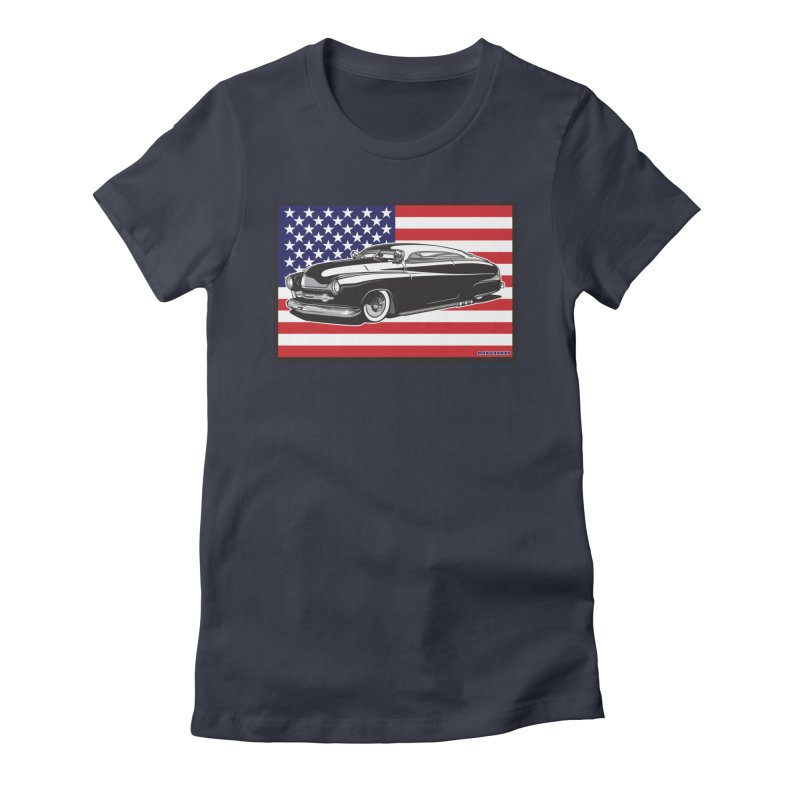 AMERICAN ORIGINAL Women's Fitted T-Shirt by Max Grundy Design's Artist Shop