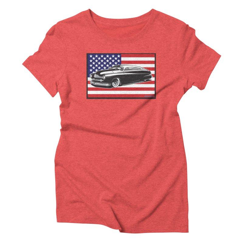 AMERICAN ORIGINAL Women's Triblend T-Shirt by Max Grundy Design's Artist Shop