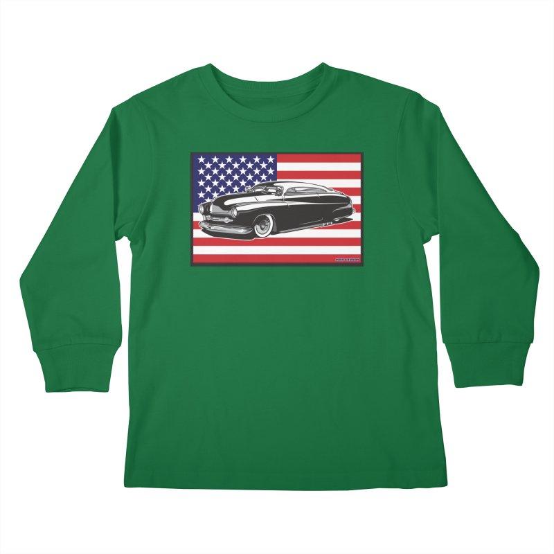 AMERICAN ORIGINAL Kids Longsleeve T-Shirt by Max Grundy Design's Artist Shop
