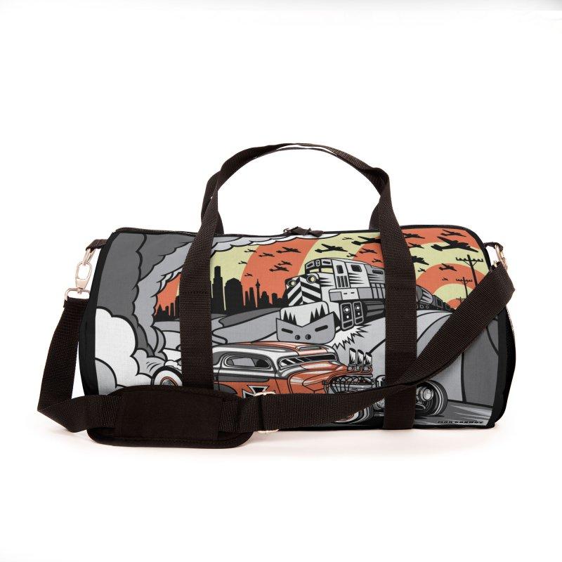 BERLIN BURNOUT Accessories Bag by Max Grundy Design's Artist Shop