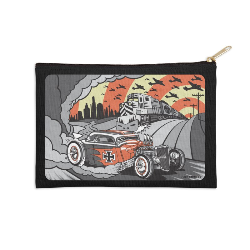 BERLIN BURNOUT Accessories Zip Pouch by Max Grundy Design's Artist Shop