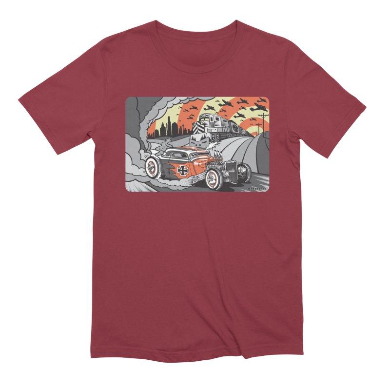 BERLIN BURNOUT Men's Extra Soft T-Shirt by Max Grundy Design's Artist Shop