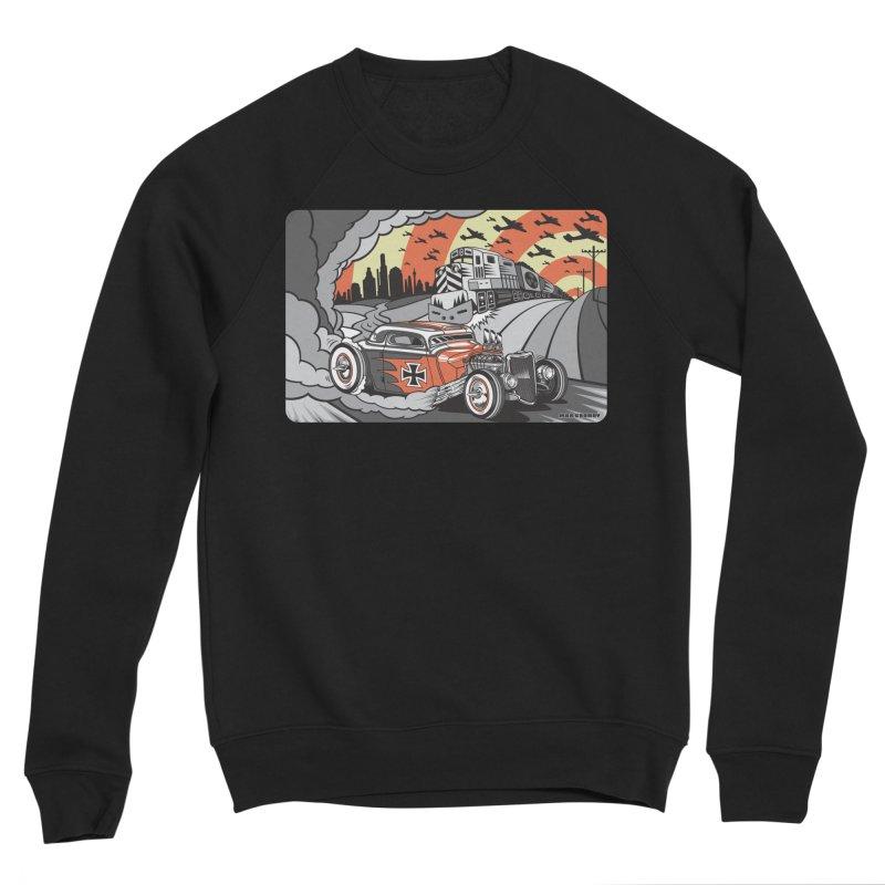 BERLIN BURNOUT Men's Sponge Fleece Sweatshirt by Max Grundy Design's Artist Shop