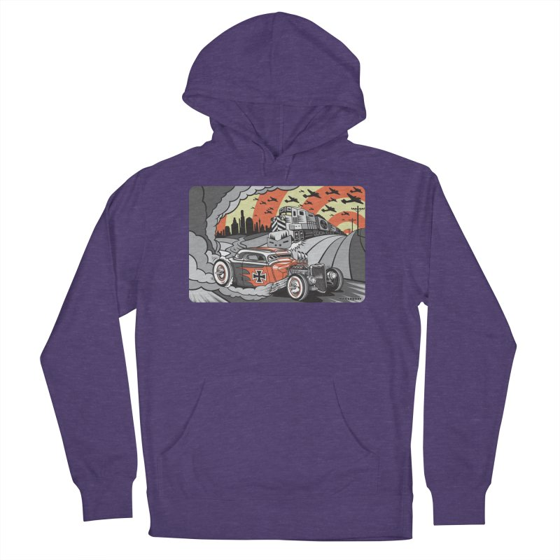BERLIN BURNOUT Women's French Terry Pullover Hoody by Max Grundy Design's Artist Shop
