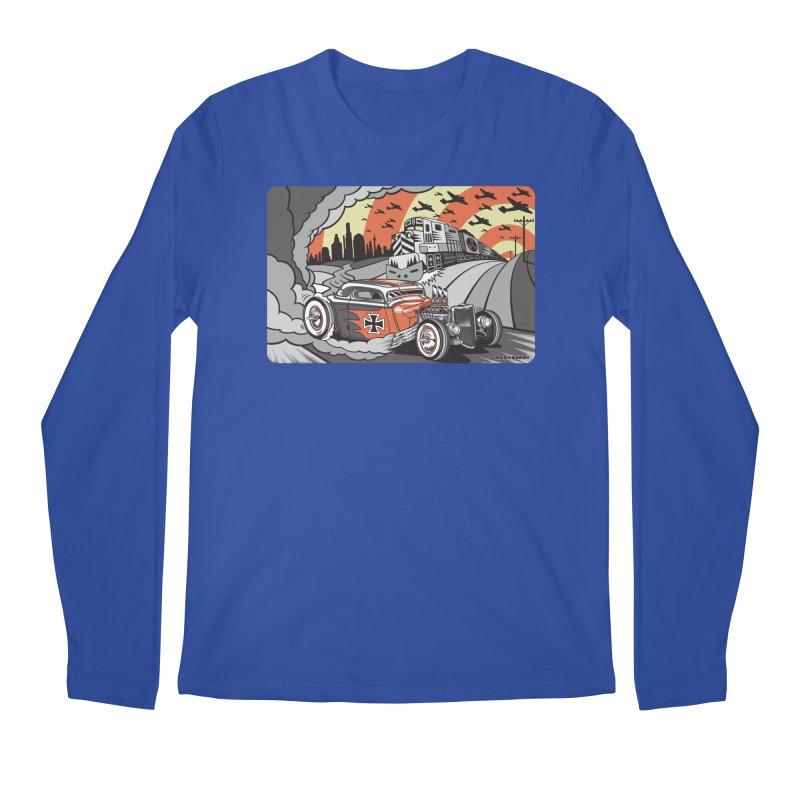 BERLIN BURNOUT Men's Regular Longsleeve T-Shirt by Max Grundy Design's Artist Shop