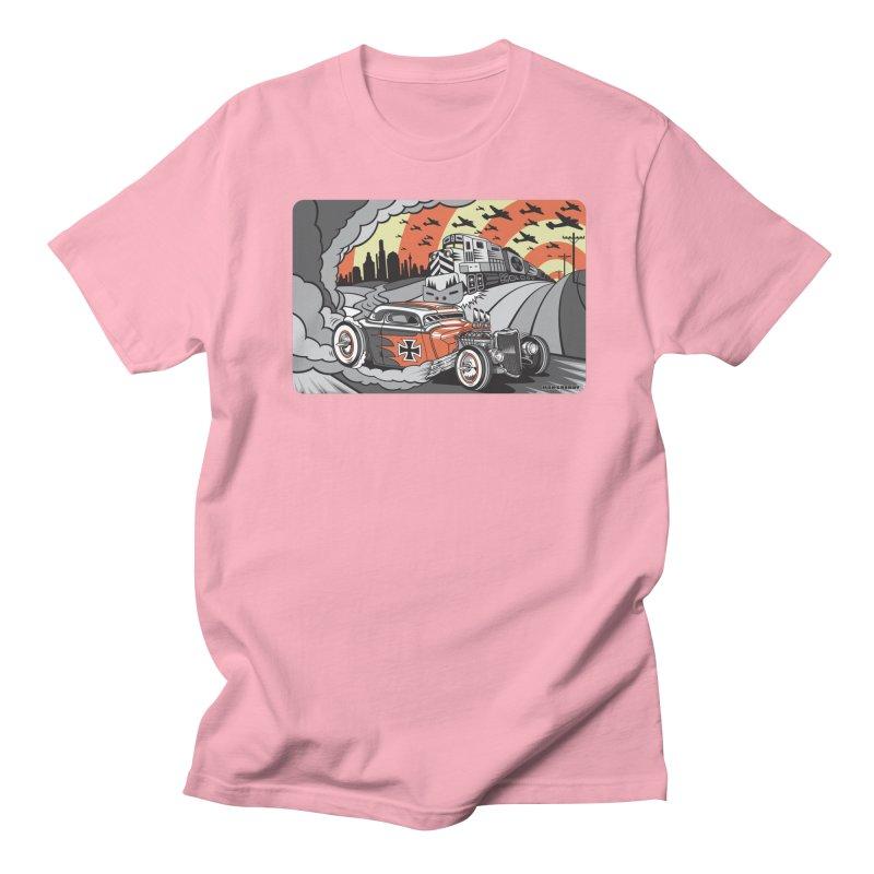 BERLIN BURNOUT Men's Regular T-Shirt by Max Grundy Design's Artist Shop