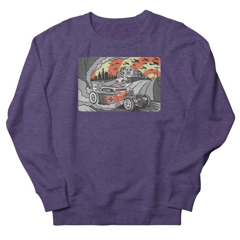 BERLIN BURNOUT Women's French Terry Sweatshirt by Max Grundy Design's Artist Shop