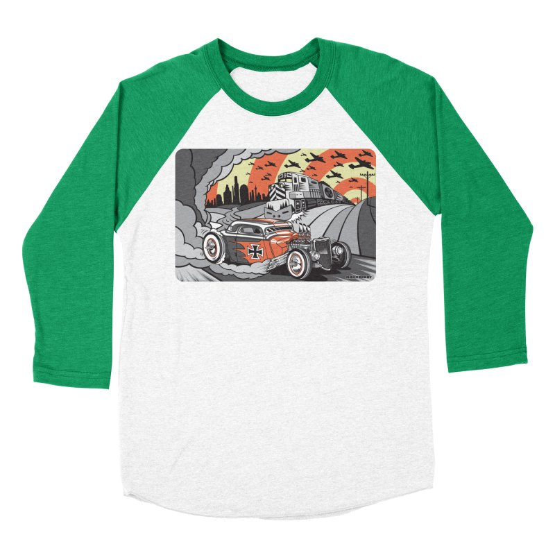 BERLIN BURNOUT Women's Baseball Triblend Longsleeve T-Shirt by Max Grundy Design's Artist Shop